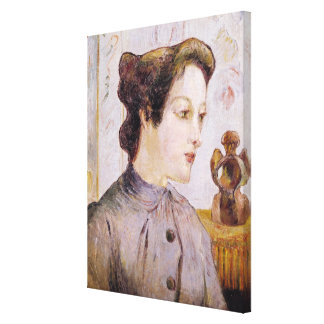 Portrait of a Young Woman, 1886 Canvas Print