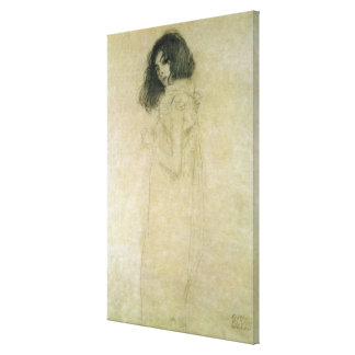 Portrait of a young woman, 1896-97 canvas print
