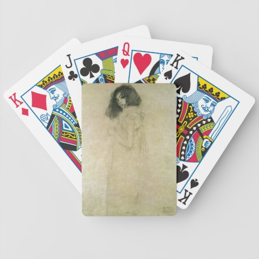 Portrait of a young woman, 1896-97 card deck