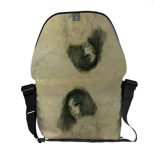 Portrait of a young woman, 1896-97 courier bag