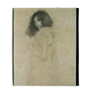 Portrait of a young woman, 1896-97 iPad folio case