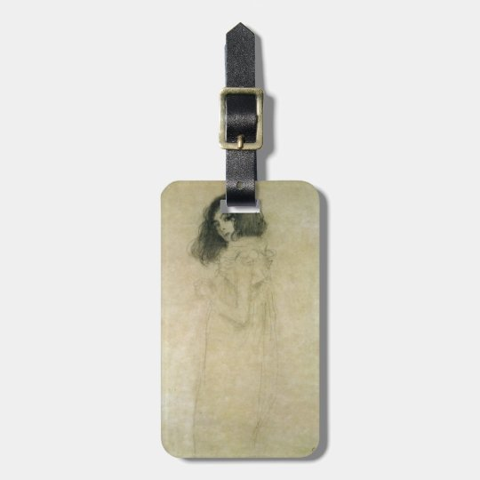 Portrait of a young woman, 1896-97 luggage tag
