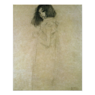Portrait of a young woman, 1896-97 poster