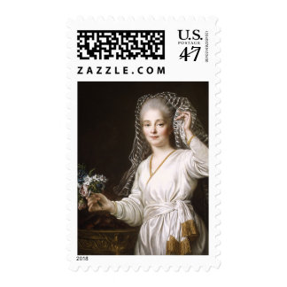 Portrait of a Young Woman as a Vestal Virgin Stamp