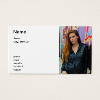 Portrait of a young woman business card