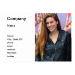 Portrait of a young woman business cards