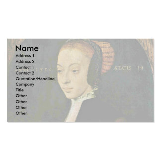 Portrait Of A Young Woman By Bartholomäus Bruyn D. Business Cards