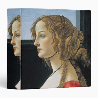 Portrait of a Young Woman by Botticelli Vinyl Binder