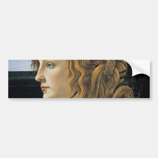 Portrait of a Young Woman by Botticelli Bumper Sticker