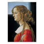 Portrait of a Young Woman by Botticelli Greeting Card