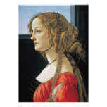 Portrait of a Young Woman by Botticelli Card