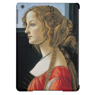 Portrait of a Young Woman by Botticelli iPad Air Covers
