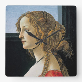 Portrait of a Young Woman by Botticelli Wallclock