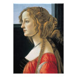 Portrait of a Young Woman by Botticelli Personalized Invitation