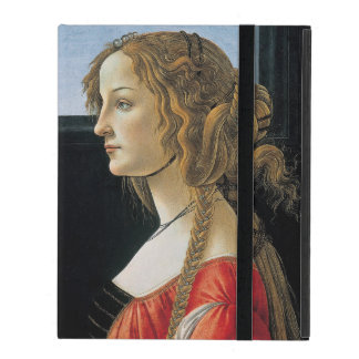 Portrait of a Young Woman by Botticelli iPad Folio Case