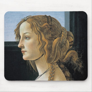 Portrait of a Young Woman by Botticelli Mouse Pad