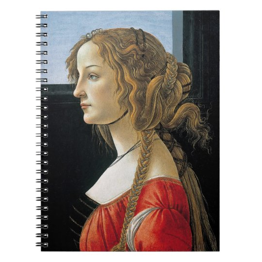 Portrait of a Young Woman by Botticelli Notebook