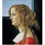 Portrait of a Young Woman by Botticelli Photo Sculptures