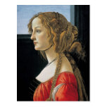 Portrait of a Young Woman by Botticelli Postcard