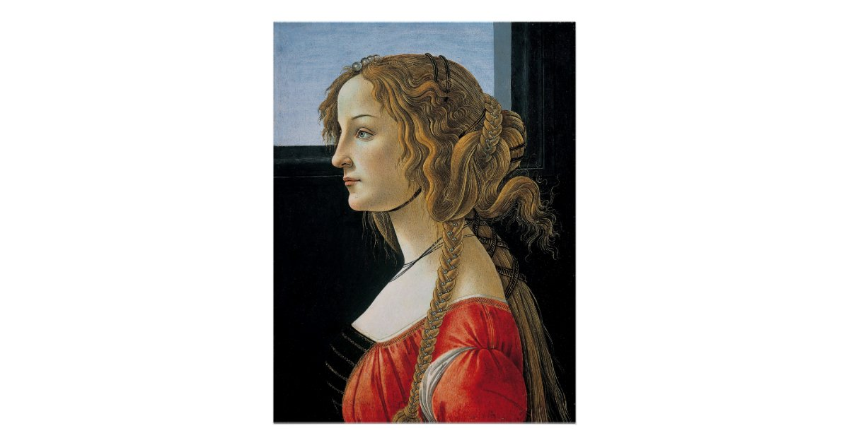 Portrait of a Young Woman by Botticelli Poster | Zazzle.com