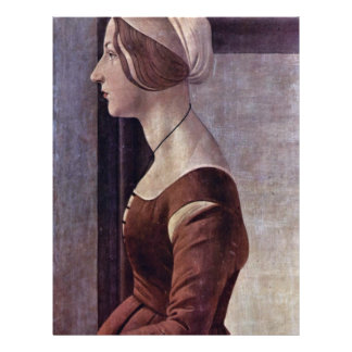 Portrait Of A Young Woman By Botticelli Sandro Flyer
