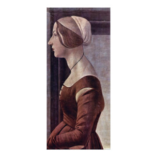 Portrait Of A Young Woman By Botticelli Sandro Rack Card
