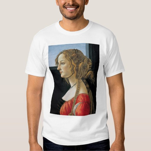 Portrait of a Young Woman by Botticelli Shirt