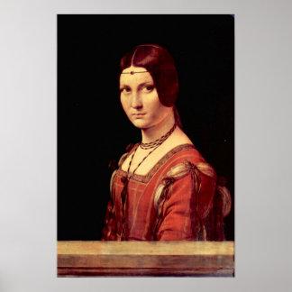 Portrait of a young woman  by Da Vinci Print