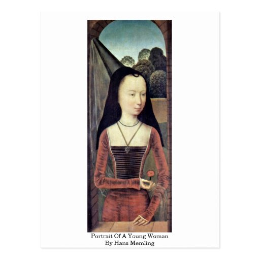 Portrait Of A Young Woman By Hans Memling Postcards