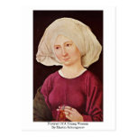 Portrait Of A Young Woman By Martin Schongauer Postcard