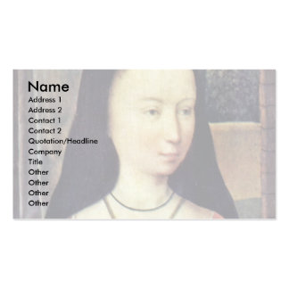 Portrait Of A Young Woman By Memling Hans Business Card Templates
