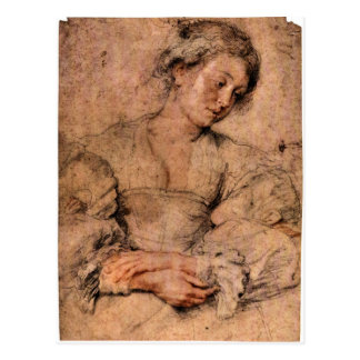 Portrait of a young woman by Paul Rubens Postcards