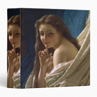 Portrait of a Young Woman by Pierre Auguste Cot 3 Ring Binders