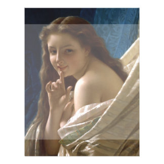 Portrait of a Young Woman by Pierre Auguste Cot Flyer
