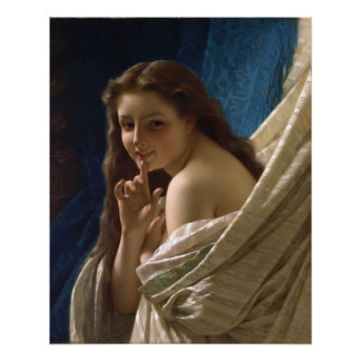 Portrait of a Young Woman by Pierre Auguste Cot Poster
