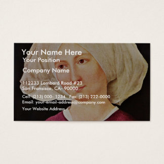 Portrait Of A Young Woman  By Schongauer Martin (B Business Card