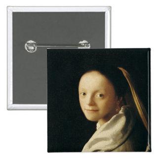 Portrait of a Young Woman, c.1663-65 Button