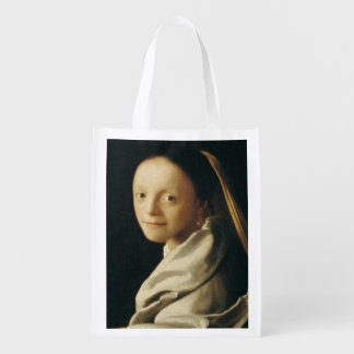 Portrait of a Young Woman, c.1663-65 Grocery Bag