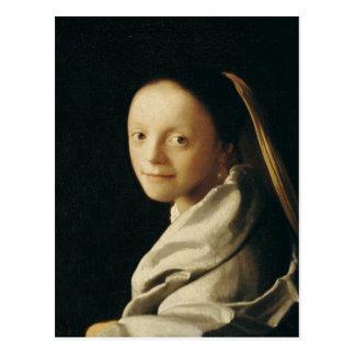 Portrait of a Young Woman, c.1663-65 Postcard
