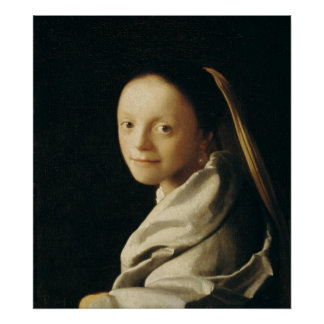 Portrait of a Young Woman, c.1663-65 Poster