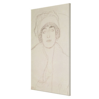 Portrait of a Young Woman Stretched Canvas Prints