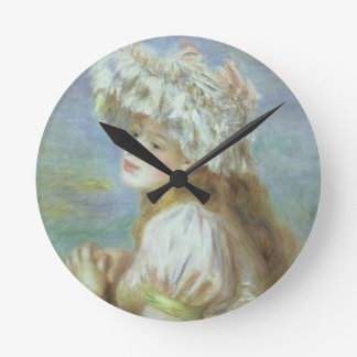 Portrait of a young woman in a lace hat, 1891 wallclock
