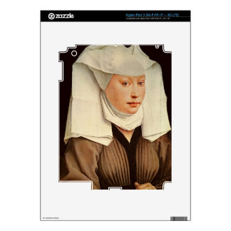 Portrait of a Young Woman in a Pinned Hat, c.1435 iPad 3 Decal