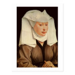 Portrait of a Young Woman in a Pinned Hat, c.1435 Postcard