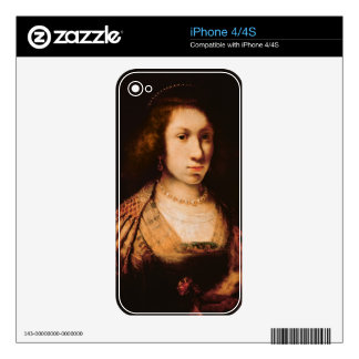 Portrait of a young woman iPhone 4S decal