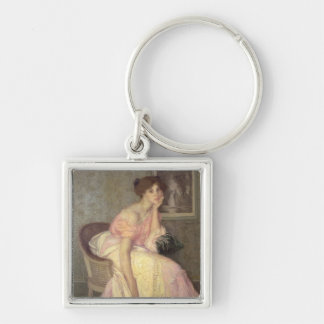 Portrait of a young woman keychain