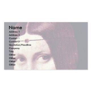Portrait Of A Young Woman (La Belle Ferronière) By Business Cards