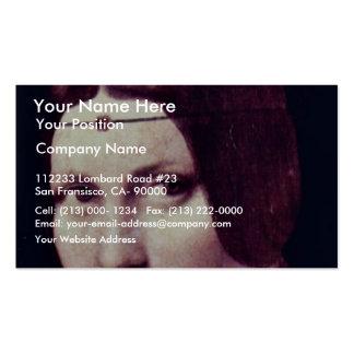 Portrait Of A Young Woman (La Belle Ferronière) By Business Card Template