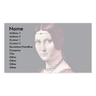 Portrait Of A Young Woman (La Belle Ferronière) By Business Card Templates