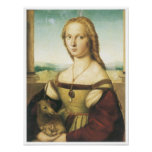 Portrait of a Young Woman (Lady with a Unicorn) Poster